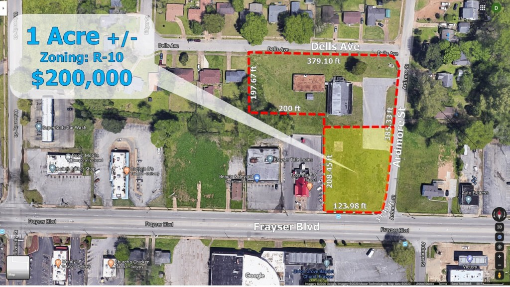 2300 Frayser Blvd – Acre Lot at the Corner of Frayser and Ardmore