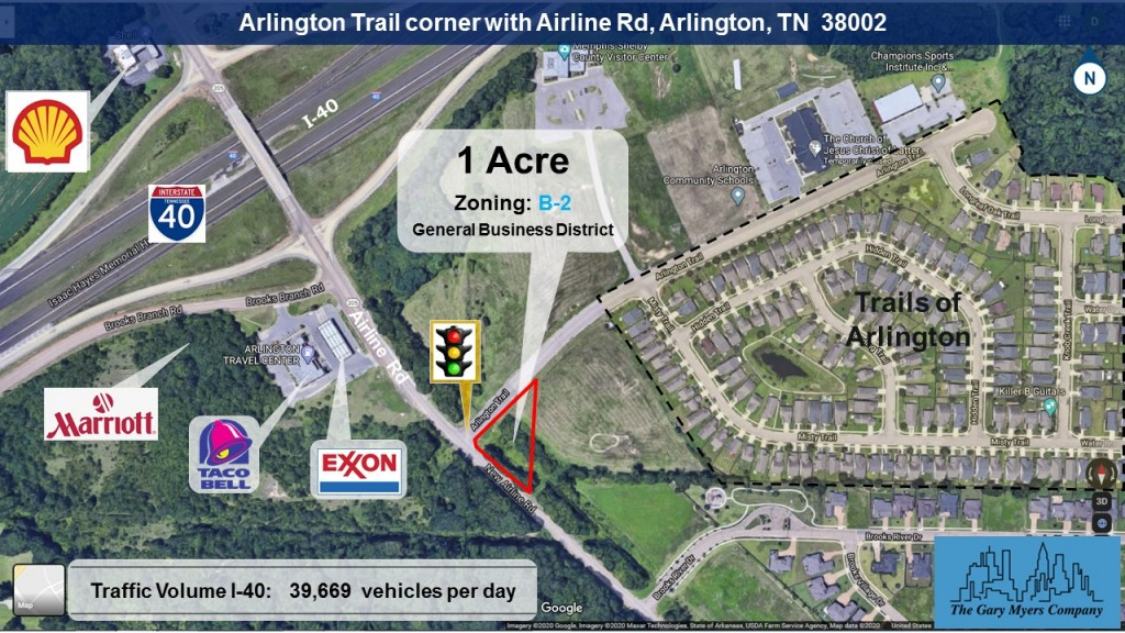 I-40 and Arlington Trails at Airline Rd – Vacant Land for Built-to-Suit at Stop Light Corner
